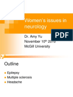 AHD Dec 15 10 - Women's Issues in Neurology - Yu