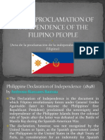 Act of Proclamation of Independence of the Filipino