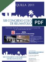Segundo Anuncio Congreso Colombiano de Reumatología/Second Announcement