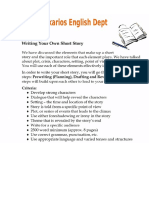 Short Story Building and Rubric