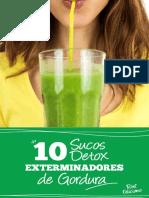 10 Sucos Detox Emagrecedores