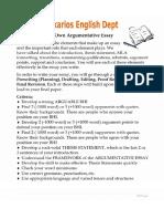 Argumentative Essay Building & Rubric