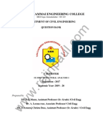 CE8502 Structural Analysis I