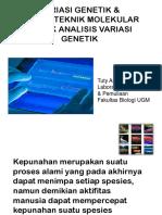 Variasi Genetik & Teknik Molekular