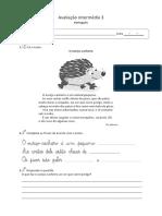 Português 1.º ano - 3.º período - ficha intermédia