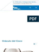 Oráculo Del Coco Oráculos Cubayoruba Santeria