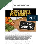 Exercícios Para Diabéticos e Dieta