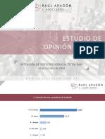 Raúl Aragón Asoc. / Intención de Voto Presidencial Total País Octubre 2019