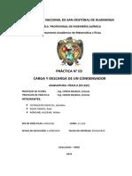 carga y descarga de condensadores informe