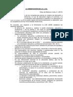 La Orientación en La Loe (Vélaz de Medrano, 2010)[1]