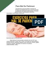 Exercícios Para Mal de Parkinson