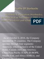 A Brief Profile of Starbucks