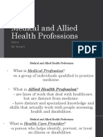 Medical and Allied Health Professions