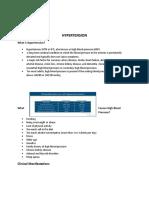 Hypertension Written Report