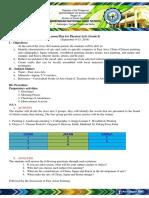 Lesson Plan Arts 8 September 9-13