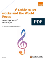 413961 2019 Teachers Guide to Set Works and the World Focus for Examination in 2019