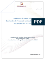 Note de Synthèse Du Budget Économique Prévisionnel 2018 (Version Fr)