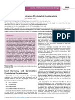Seed Dormancy and Germination Physiological Considerations