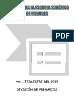 Primarios Coritos 4to. Trimestre 2019.Do