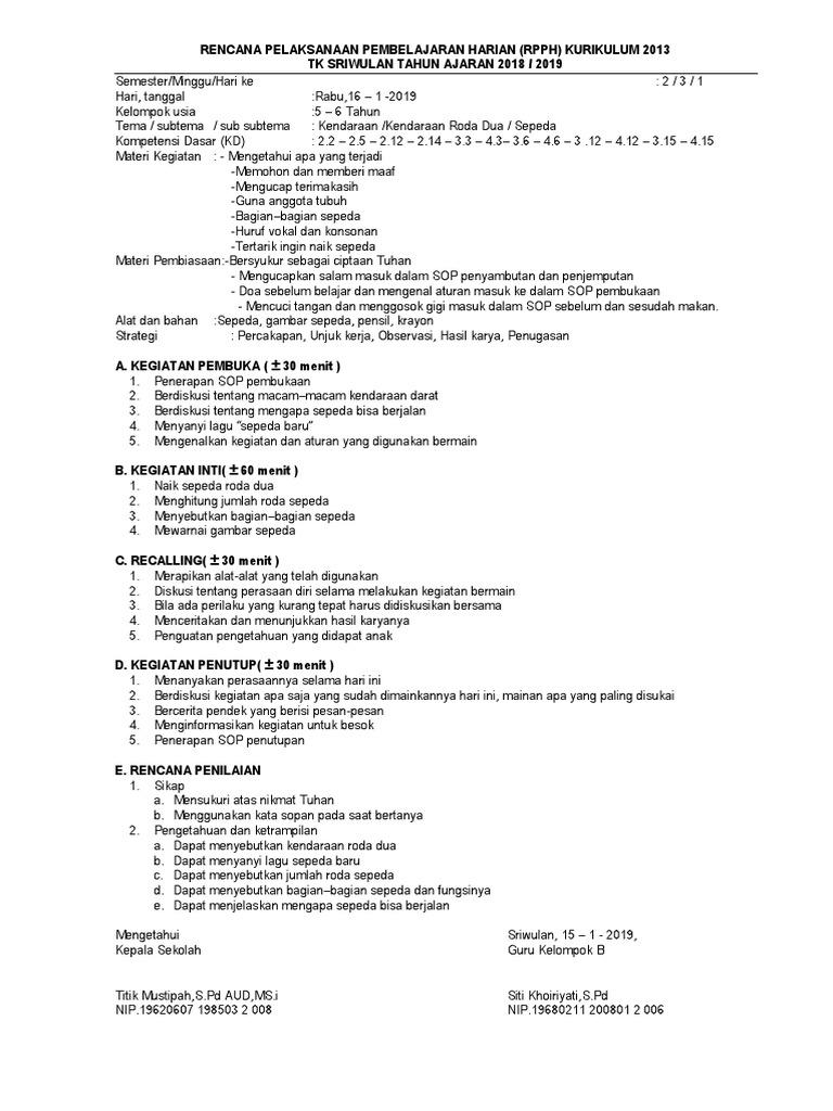 RPPH TK B SMT2 Minggu 03 Kendaraan Daratcx