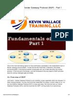 Fundamentals of Border Gateway Protocol (BGP) Full