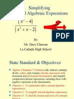 Rational Algebraic Expression