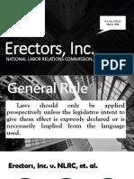 Erectors, Inc. v NLRC