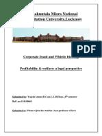 Assignment of Welfare & Profitability
