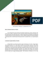 Persistence of Memory by Salvador Dali Art Interpretation