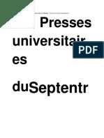 Sartre. Une Écriture Critique - Sartre Lecteur de l'Étranger - Presses Universitaires Du Septentrion