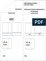 Tarjetónes Votaciones COPASST