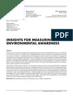 Insights for Measuring Environmental Awareness