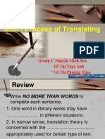 Group 1_Process of Translating