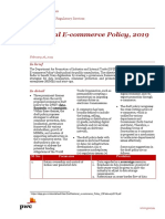 Pwc News Alert 26 February 2019 National Ecommerce Policy Draft