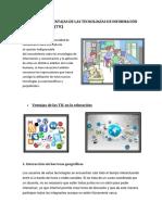 Ventajas y Desventajas de Las Tecnologías de Información y Comunicación