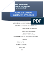 Analisis de Costo, Volumen y Utilidad