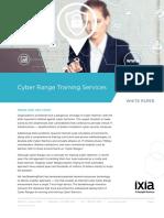 Ixia Cyber Range Training Services