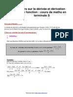 06 - Cours Sur La Dérivée Et Dérivation d'Une Fonction