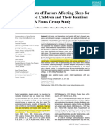 Nurses Views of Factors Affecting Sleep ForHospitalized Children and Their Families a Focus Group Study