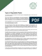 Types of Degradable Plastic