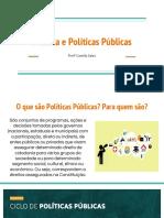 Política e Políticas Públicas