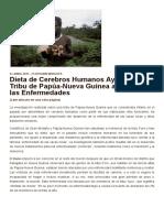 Dieta de Cerebros Humanos Ayudó a Una Tribu de Papúa-Nueva Guinea a Resistir Las Enfermedades _ Ancient Origins España y Latinoamérica
