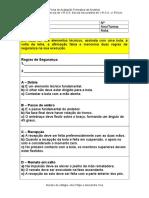 Ficha de Avaliação Formativa de Andebol