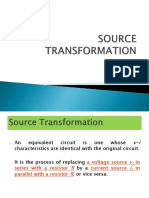 5 Source Transformation & Thevenin's and Norton's Theorem