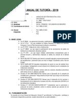 Plan Anual de Tutoria General 2019
