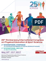 25o Διεθνές Συνέδριο Φυσικής Αγωγής & Αθλητισμού - βιβλίο περιλήψεων
