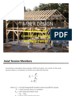 Timber Axial Members Truss