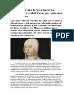 El Castigo de Una Furiosa Isabel La Católica a Cristóbal Colón Por Esclavizar a 1