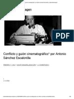 Conflicto y guión cinematográfico_ por Antonio Sánchez Escalonilla _ anatomíadelaimagen