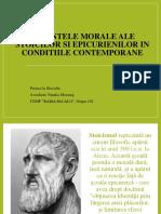 Valentele Morale Ale Stoicilor Si Epicurienilor in Conditiile